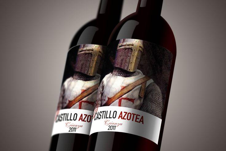 Etiqueta de vino CASTILLO de AZOTEA