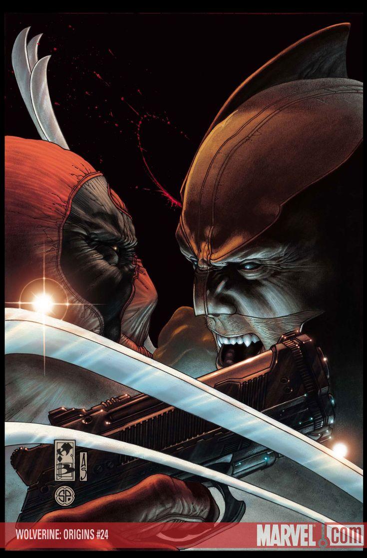 Wolverine vs Deadpool – Wolverine Origins by Simone Bianchi