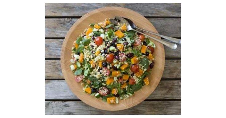 Warm mediterranean couscous salad