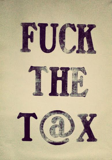 Fuck the t@x   Protest against the Hungarian internet tax. #letterpress #woodtype #typography #poster #protest #tax #internet
