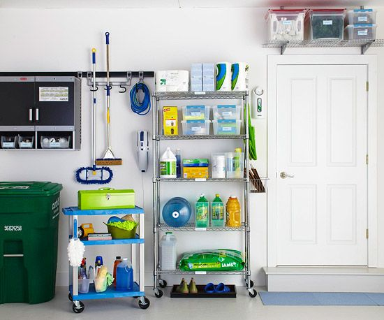 Your garage is one of the largest rooms in your house, so it's important to adopt a flexible storage system that allows access to your most important items. This space sorts supplies according to use so there's never any doubt where to look./