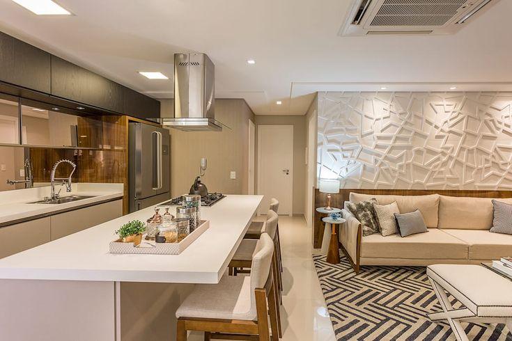 Salas de estar integradas: Salas de estar por juliana agner architecture & interiors, modern   – Decoração