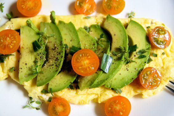 Fresh Herb & Goat Cheese Omelet with Avocado & Pear recipe on Food52 ...