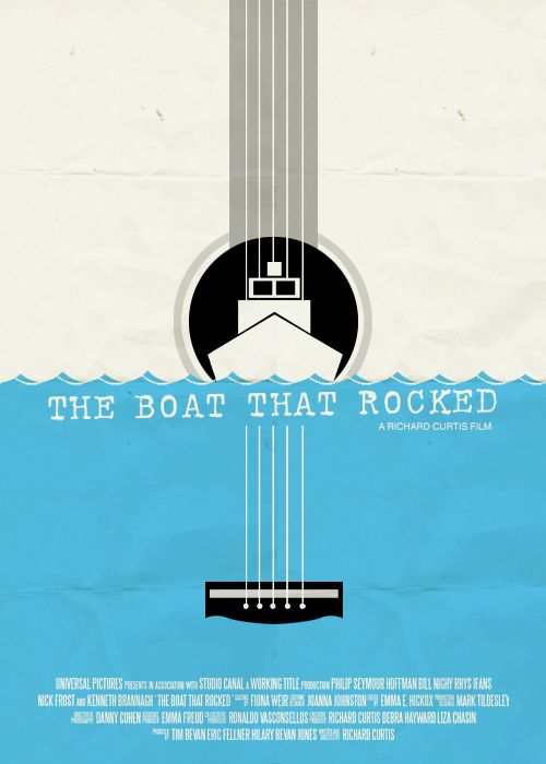 Minimal Movie Posters - The Boat That Rocked by sad-disco