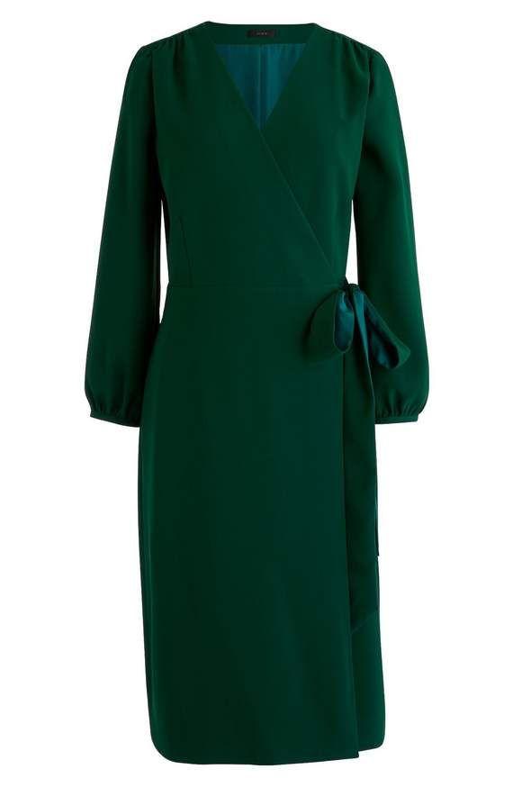 179c9ecbc20d J Crew 365 wrap crepe dress in green or black