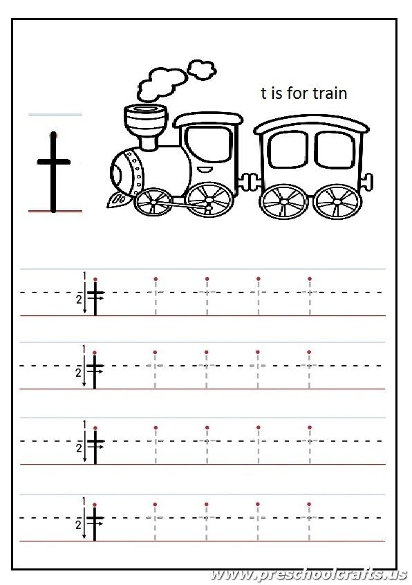 Lowercase letter T Worksheets Kindergarten and 1'st grade - t is for ...