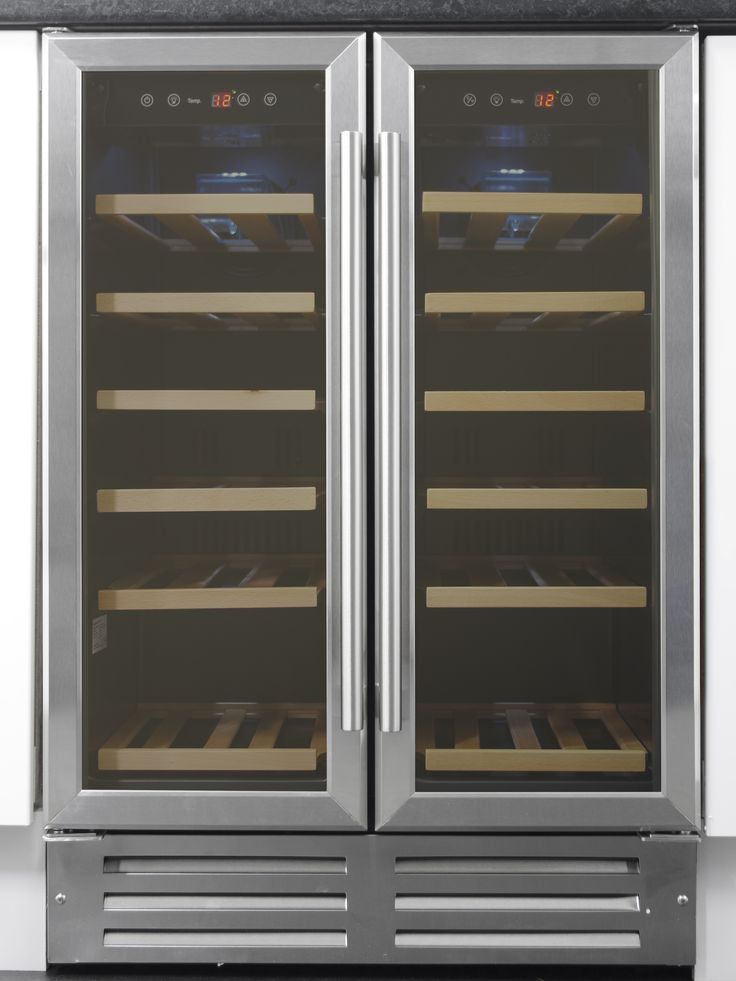 Art29609 60cm Stainless Steel Two Door Wine Cooler Wine