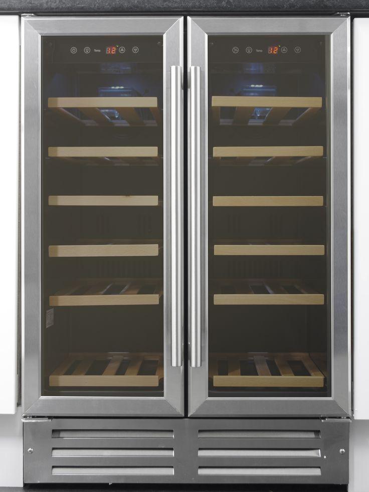 Art29609 60cm Stainless Steel Two Door Wine Cooler Wine