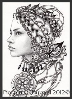 33 Best Zentangle Fairy Images On Pinterest Coloring