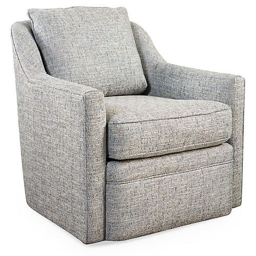 Best Chelsea Swivel Chair Blue Tweed In 2020 Swivel Chair 400 x 300