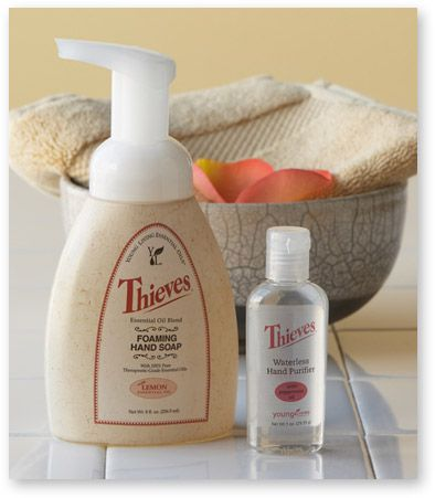 Keep cold and flu germs away with young living thieves hand soap for the home pinterest - How to keep thieves away from your home ...