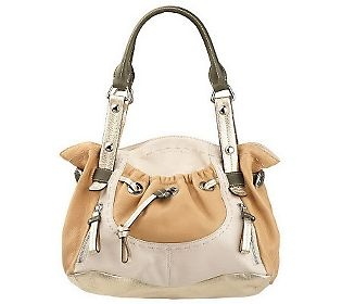 B. Makowsky Glove Leather Double Handle Pocket Shopper, I love this bag so much I own 8 of them in different colors. Wonderful and very functional bag....Love, love, love.....