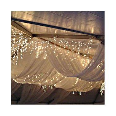 Le pan de tulle pour drapé (1,60m sur 10m) 30 € sur http://www.decorationsdemariage.fr