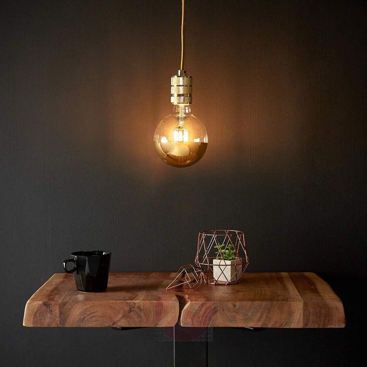 Lampada a sospensione Chicago, LED, con finiture dorate e di design industrial essenziale. Dai un'occhiata su Lampade.it! Numero articolo: 8536172