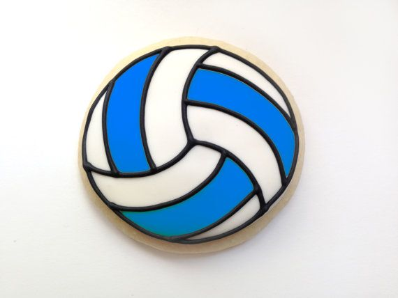 Volleyball Sugar Cookies by guilty confections on Etsy (I'm feeling a batch of netballs coming on)