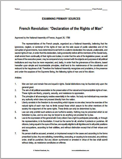 American and french revolution essay