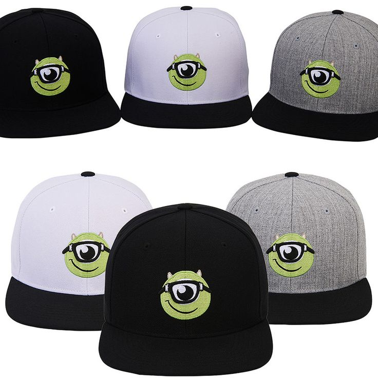 New Mens Womens Authentic Disney PIXAR MONSTER Study Baseball Snapback Caps Hats #hellobincom #BaseballCapHats