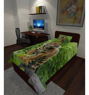 Заказать покрывало с фотопечатью «Тигр» с индивидульным размером, из ткани на выбор