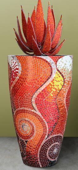 Mosaic pot for Chelsea 2007