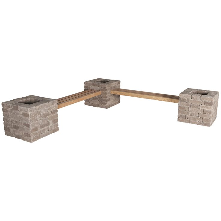 Pavestone Rumblestone RumbleStone 114 In Concrete Garden Bench Planter Kit