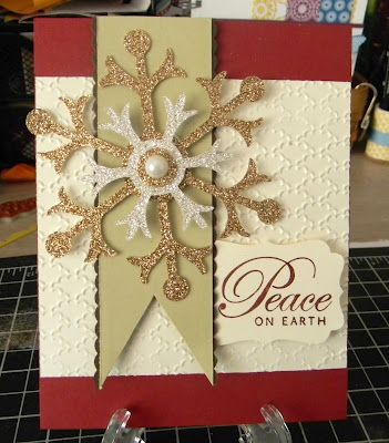 Ruth's Stamping Corner: Sparkling Snowflakes!: Christmas Cards, Cards Design, Snowflakes Cards, Colors Combos, Snowflakes Christmas, Cards Christmas, Sparkle Snowflakes, Holidays Cards, Stampin Up Christmas