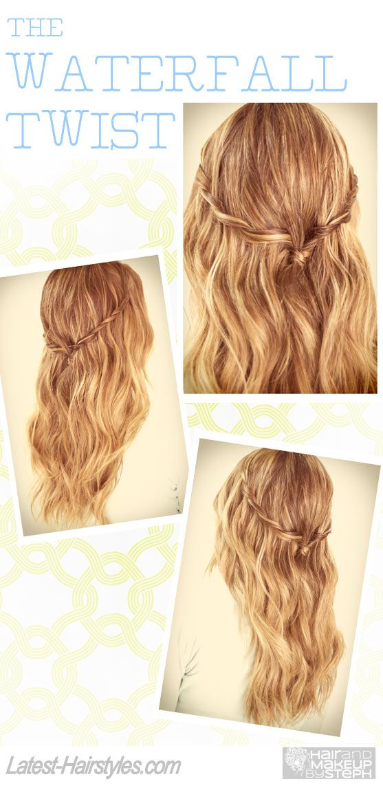 Fab step-by-step video for The Waterfall Twist... http://www.latest-hairstyles.com/tutorial/the-waterfall-twist.html Seriously, how pretty is this hairstyle?