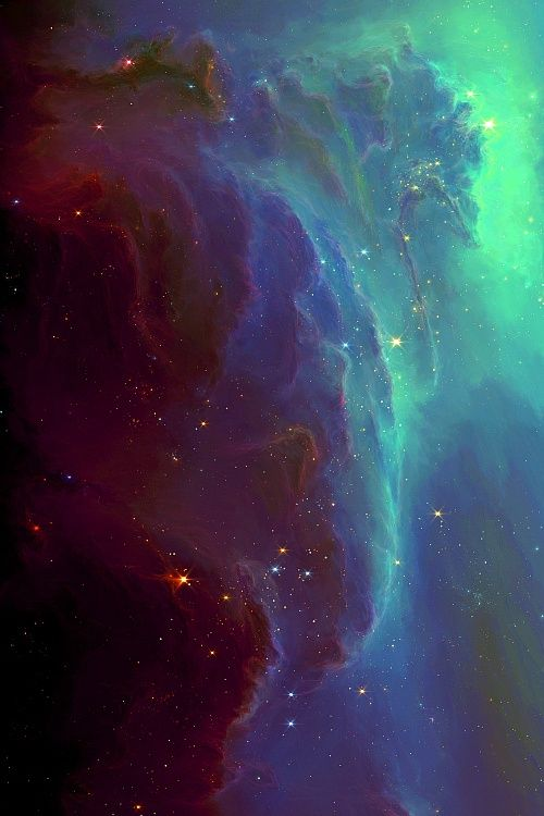 The Mountain Nebula - Click image to find more Science & Nature Pinterest pins