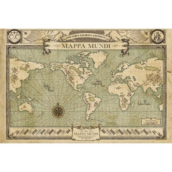 Mappa Mundi - Poster van Fantastic Beasts and Where to Find Them