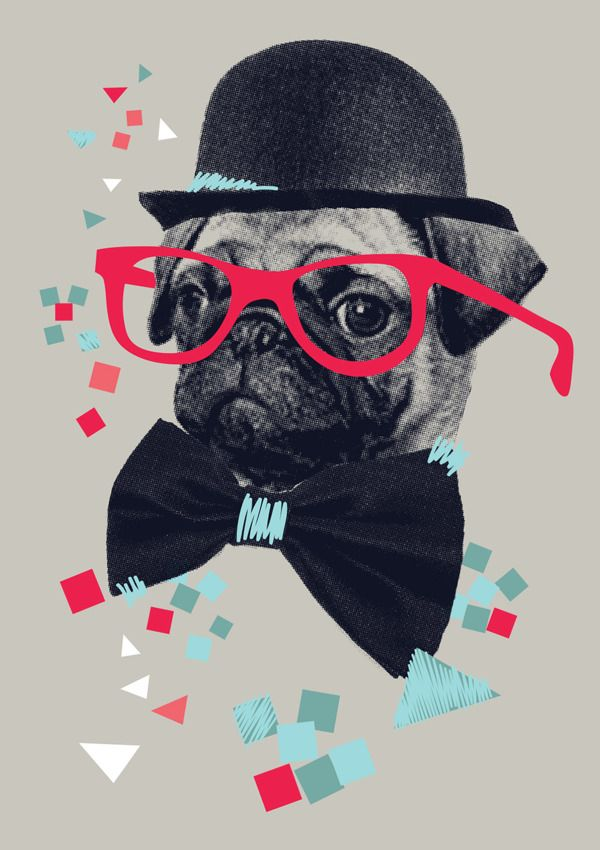 Quirky Pug - Graphic Tee