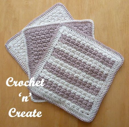 Free crochet pattern for cotton dishcloth. #crochet