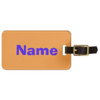 Blue on Orange Tag For Bags