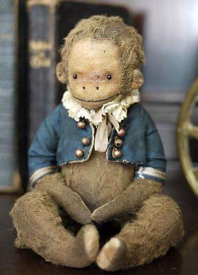 Old Dapper Little Stuffed Monkey