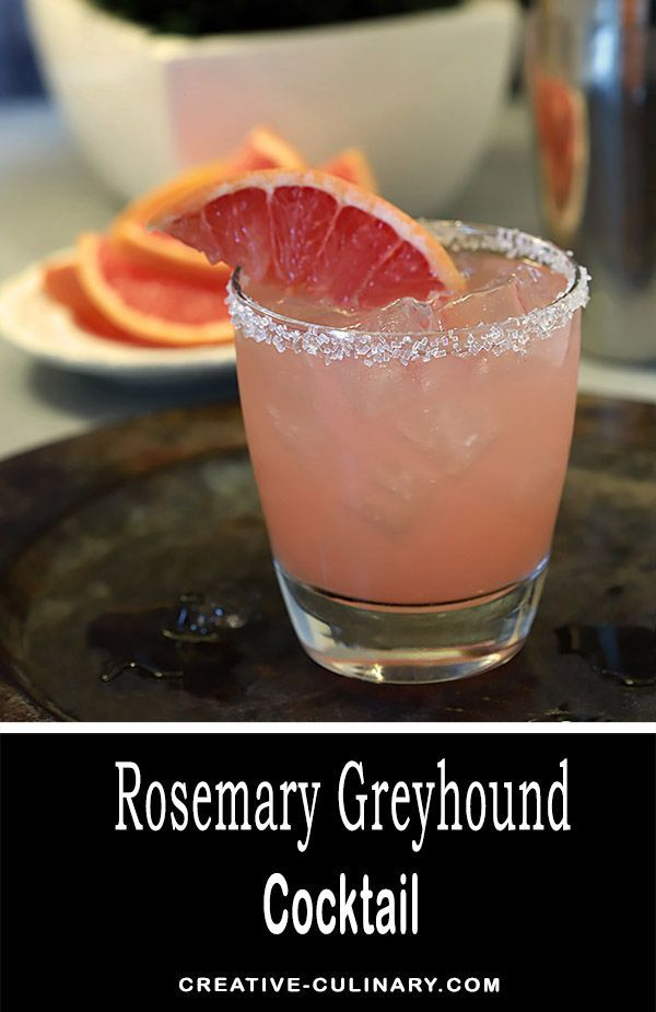 The Rosemary Greyhound is an old fashioned cocktail livened up just a touch with an herb but is still the tart and sleek Greyhound of old. Just three ingredients make for a lovely refreshment that is fantastic all year round. via @creativculinary