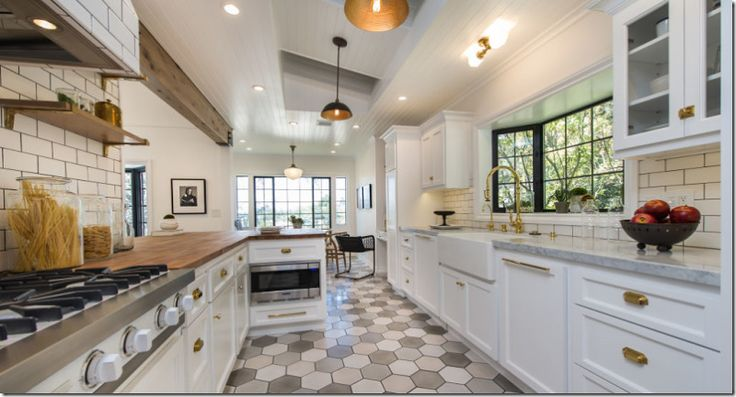 Galley kitchen here is a kitchen that looks on trend the for Latest kitchen flooring trends