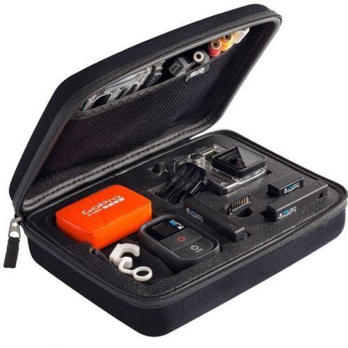 EVA Carry Жесткий Коробка Большая Сумка Для GoPro HD Hero 3 + 3 2 1 Аксессуары М Черный