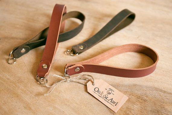 Leather Compact Camera Wrist Strap FREE initials by OakAndAwl
