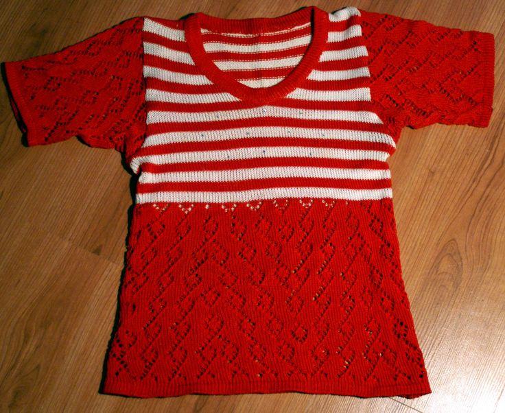 children's sweater, cotton, openwork
