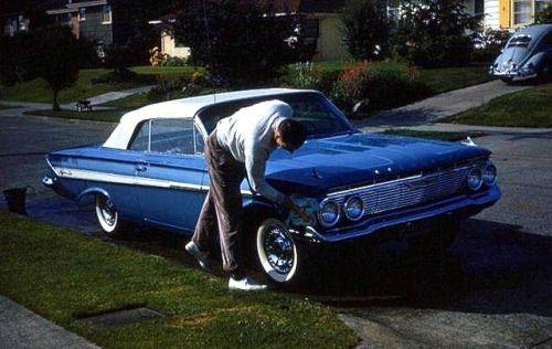 Classic GM Muscle • prova275: In the street car washing… 1961 Impala...