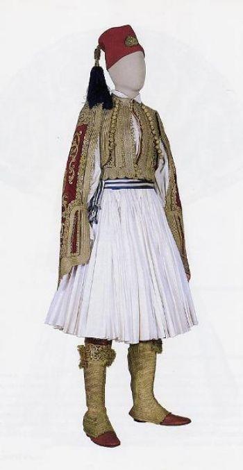 Ενδυμασία του Βασιλέως Όθωνος - Εθνική ενδυμασία του πρώτου βασιλέως της Ελλάδος (1832-1862). Αρ. κατ. 2097