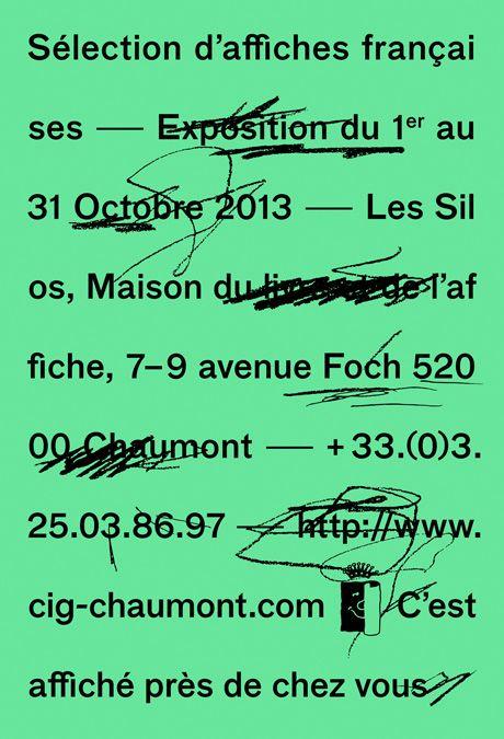 """CIG - Chaumont Horstaxe dans la sélection des affiches françaises 2013. """"C'est affiché près de chez vous"""""""