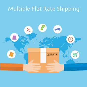Magento 2 Multiple Flat Rate Shipping Extension helps you adding up to 10 Flat Rates Shipping!