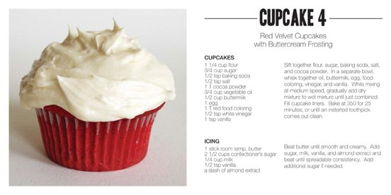 Sweet Things - Red Velvet Cupcakes with Buttercream Frosting