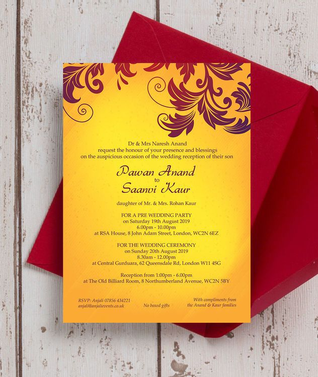 Indian Wedding Card Pdf