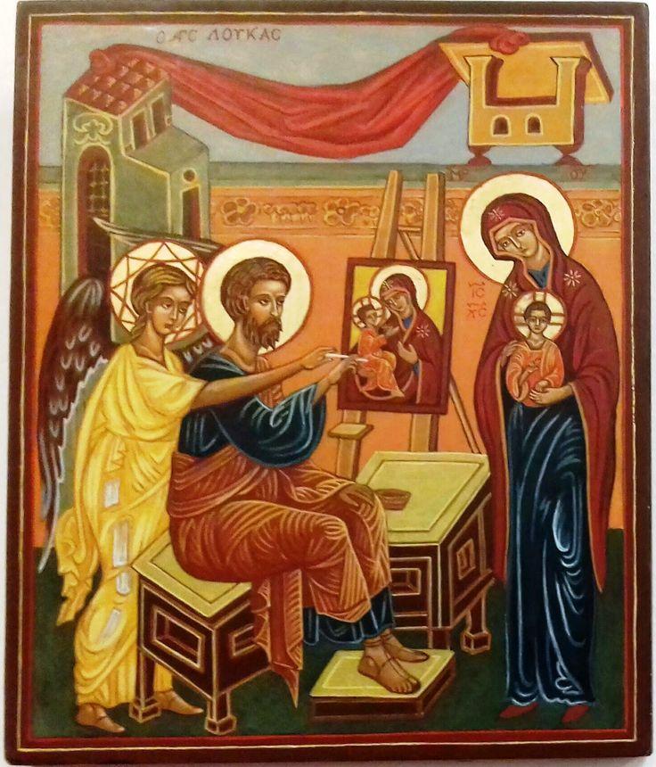 Szent  Lukács megfesti az Istenanya ikonját Oroszország   XV. század