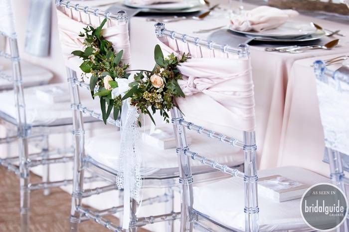 Perfect decor for a blush wedding reception