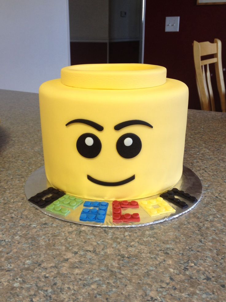 Lego Head Cake                                                                                                                                                                                 More