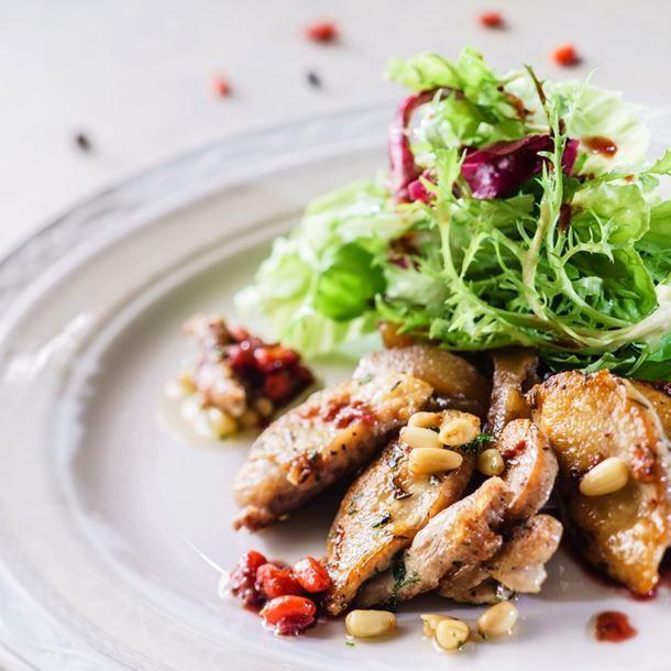 Salade Landaise aux pignon de pin