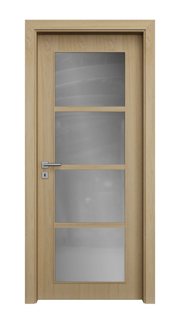 QUADRA structured glazed and veneered doors