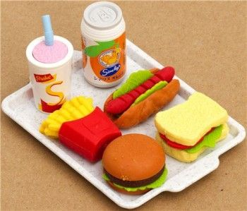 5 Awesome Back To School Supplies / Food erasers