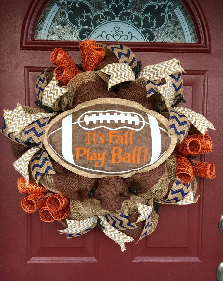 It's Fall Play Ball Burlap Wreath